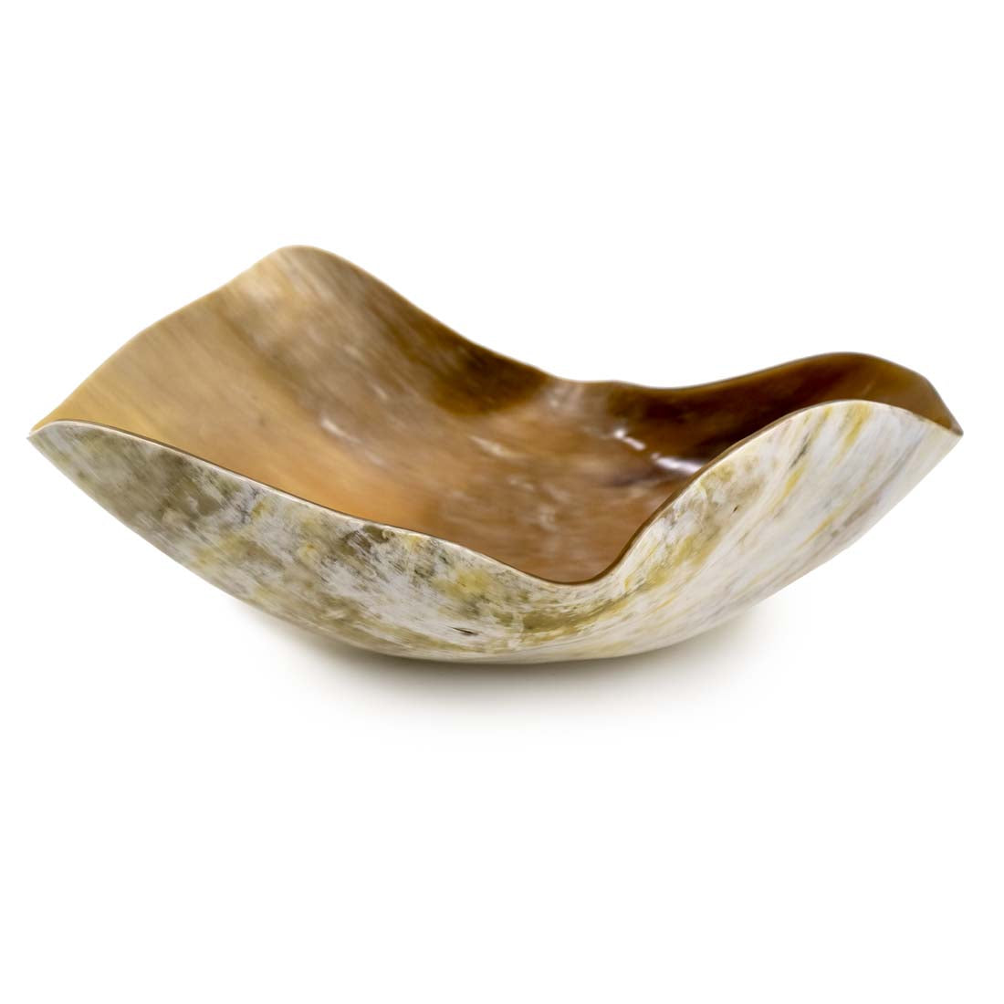 Large Oblong Horn Bowl