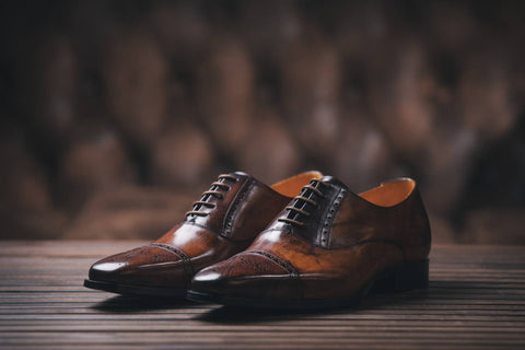 mens brown leather dress shoes