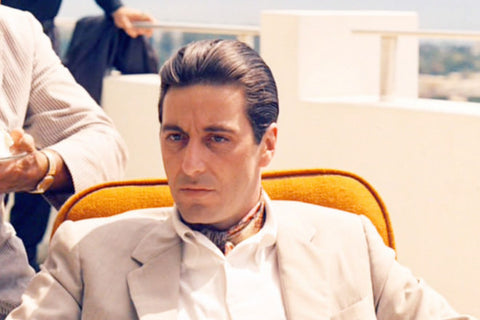 stone-faced Al Pacino as Michael Corleone in The Godfather. Paramount Pictures.