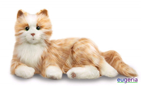 chat-orange-tigré-tabby-cat-Joy-For-All-peluche-interactive-plush-animal-Alzheimer