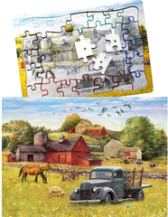 Blue Truck Farm Puzzle - Keeping Busy