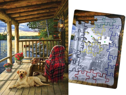 Lake Cabin Labrador Puzzle - Keeping Busy