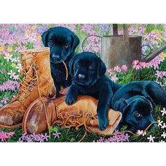 Black Lab Puppies Puzzle - Keeping Busy