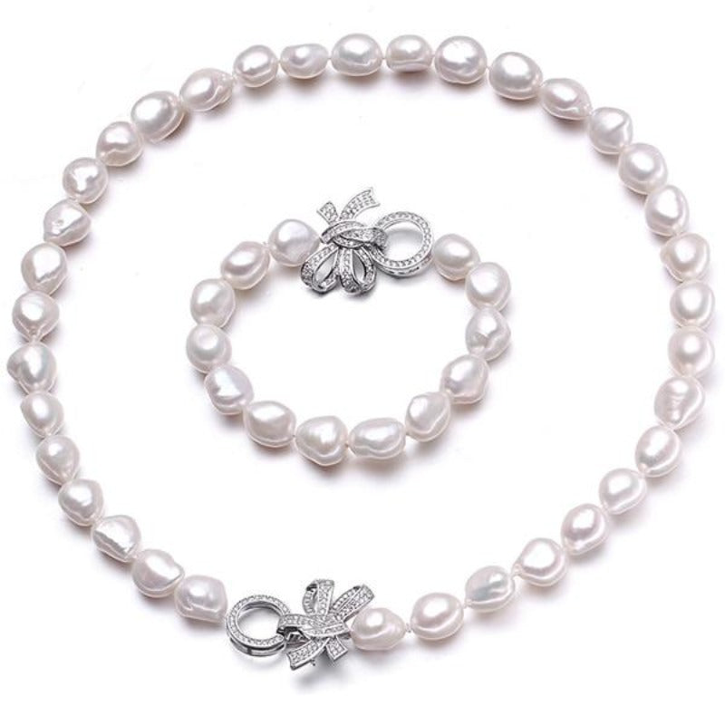 Baroque Freshwater Pearl Necklace Set - pearlsnlucent.com