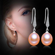 Load image into Gallery viewer, Freshwater Pearl Dangle Earrings Pink - pearlsnlucent.com