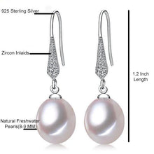Load image into Gallery viewer, Freshwater Pearl Dangle Earrings White - pearlsnlucent.com