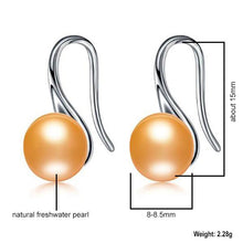 Load image into Gallery viewer, Freshwater Pearl Drop Earrings Golden - pearlsnlucent.com