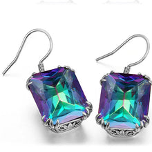 Load image into Gallery viewer, Vintage Royal Rainbow Topaz Earrings - pearlsnlucent.com