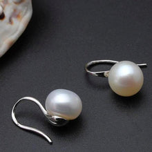Load image into Gallery viewer, Freshwater Pearl Drop Earrings White - pearlsnlucent.com