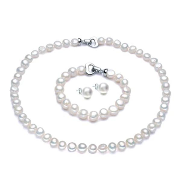 Baroque Freshwater Pearl Jewelry Set - pearlsnlucent.com