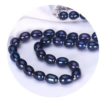 Load image into Gallery viewer, Black Freshwater Pearl Necklace - pearlsnlucent.com
