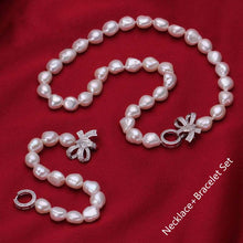 Load image into Gallery viewer, Baroque Freshwater Pearl Necklace Set - pearlsnlucent.com