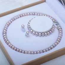 Load image into Gallery viewer, S925 Freshwater Pearl Jewelry Set - pearlsnlucent.com