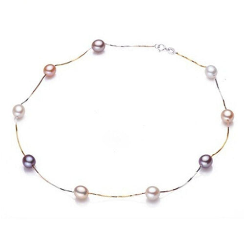 Multicolor Freshwater Pearl Necklace - pearlsnlucent.com
