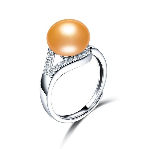 Freshwater Pearl Ring Dazzling Gold - pearlsnlucent.com