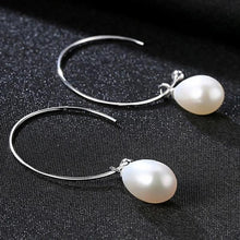 Load image into Gallery viewer, Half Hoop Freshwater Pearl Earrings - pearlsnlucent.com