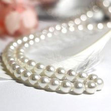 Load image into Gallery viewer, White Shell Pearl Necklace - pearlsnlucent.com