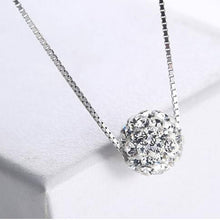 Load image into Gallery viewer, S925 Crystal Ball Necklace - pearlsnlucent.com