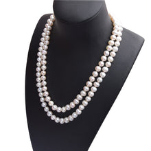Load image into Gallery viewer, Natural White Freshwater Pearl Necklace - pearlsnlucent.com