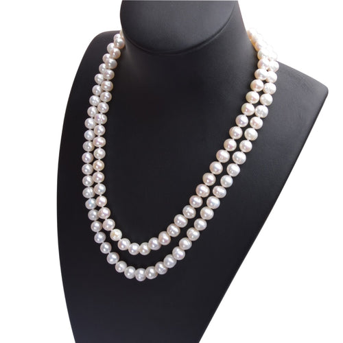 Natural White Freshwater Pearl Necklace - pearlsnlucent.com