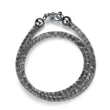 Load image into Gallery viewer, Crystal Mesh Bracelet Black - pearlsnlucent.com