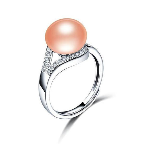 Freshwater Pearl Ring Exquisite Pink - pearlsnlucent.com
