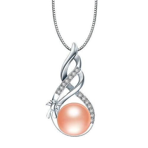 Freshwater Pearl Pendant Elegant Pink - pearlsnlucent.com