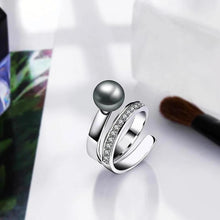 Load image into Gallery viewer, Fancy Grey Pearl Ring - pearlsnlucent.com