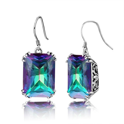Vintage Royal Rainbow Topaz Earrings - pearlsnlucent.com