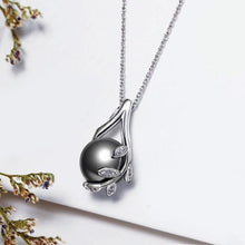Load image into Gallery viewer, Rhodium Plated Grey Pearl Pendant - pearlsnlucent.com