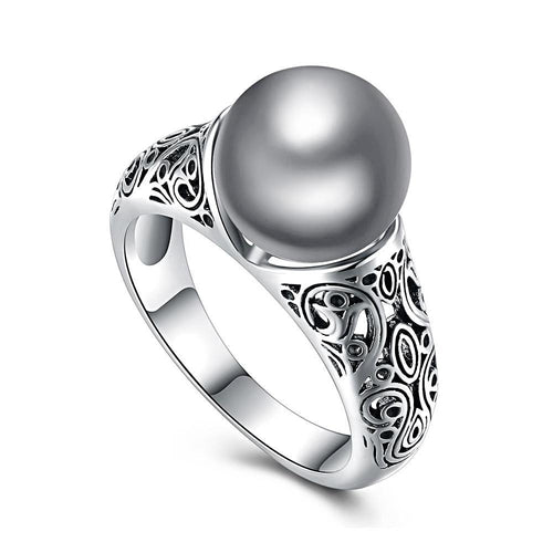Pave Gray Pearl Ring - pearlsnlucent.com