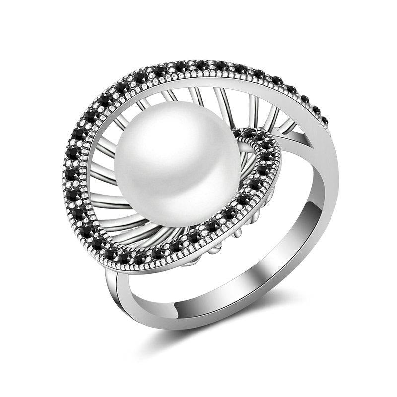 White Pearl Cocktail Ring - pearlsnlucent.com