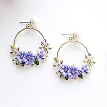 Load image into Gallery viewer, Flower Drop Pearl Earrings - pearlsnlucent.com