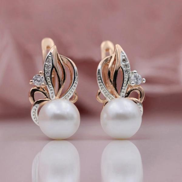 Flaming Freshwater Pearl Earrings - pearlsnlucent.com
