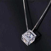 Load image into Gallery viewer, Crystal Cube Necklace - pearlsnlucent.com