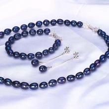 Load image into Gallery viewer, Freshwater Pearls Set Black - pearlsnlucent.com