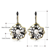 Load image into Gallery viewer, Black Gold Pearl Earrings - pearlsnlucent.com