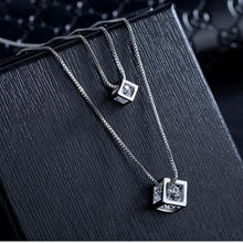 Load image into Gallery viewer, Dual Cubes Crystal Pendant - pearlsnlucent.com