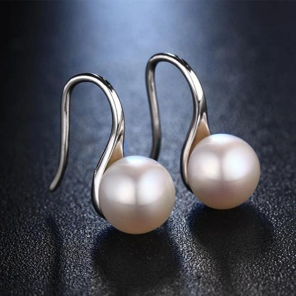 Freshwater Pearl Drop Earrings White - pearlsnlucent.com