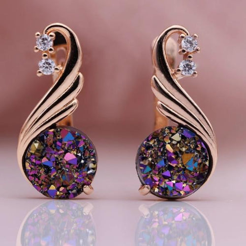 585 Rose Gold Crystal Earrings - pearlsnlucent.com