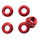 Red rear flange nuts