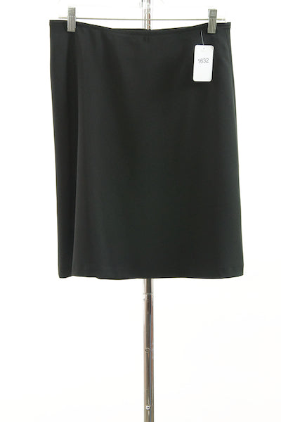#1632 Sale Rack Item / Short A-Line Dress Skirt / Junior 3 / Black Twill