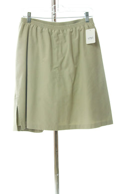 #1751 Sale Rack Item / Jack and Jill Straight Skort / Girls Plus Size 22  / Khaki Cotton