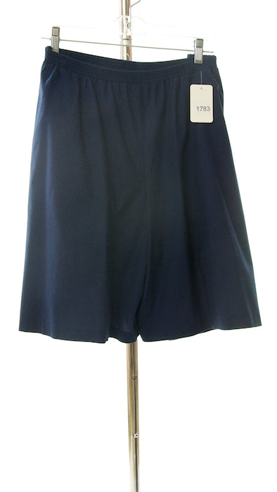 #1783 Sale Rack Item  / Walking Culottes  / Girls Plus 22 / Navy Cotton