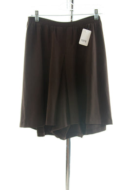 #1976 Sale Rack Item / Two Pleater Culottes  / Girls Plus Size 22 / Brown