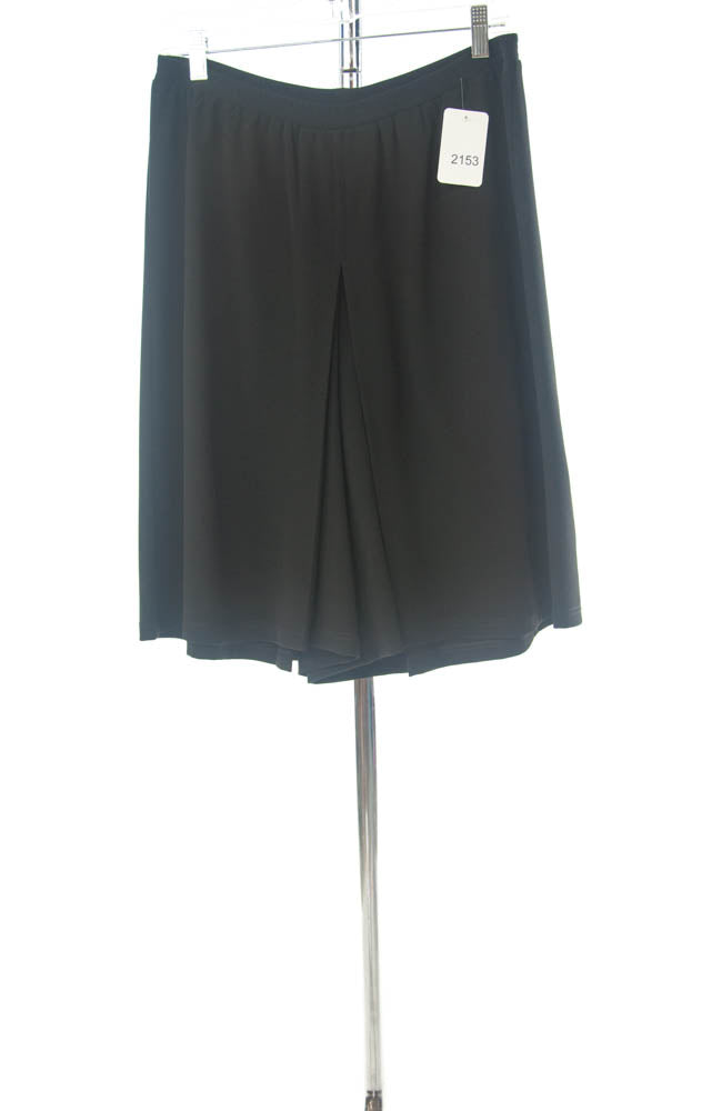 #2153 Sale Rack Item / Two Pleater Culottes / Girls Plus Size 16 / Black