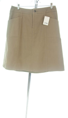 #2184 Sale Rack Item / Short Corneado Skirt / Petite 12 / Khaki Stretch