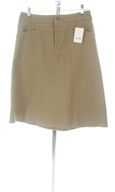 #2185 Sale Rack Item / Short Corneado Skirt / Junior 9 / Khaki Stretch