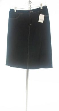 #2188 Sale Rack Item / Straight Skort / Medium / Dark Denim Stretch