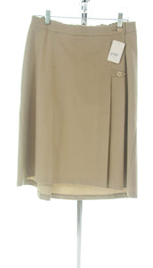#2197 Sale Rack Item / Uniform Skirt / Girls Plus Size 14 / Khaki
